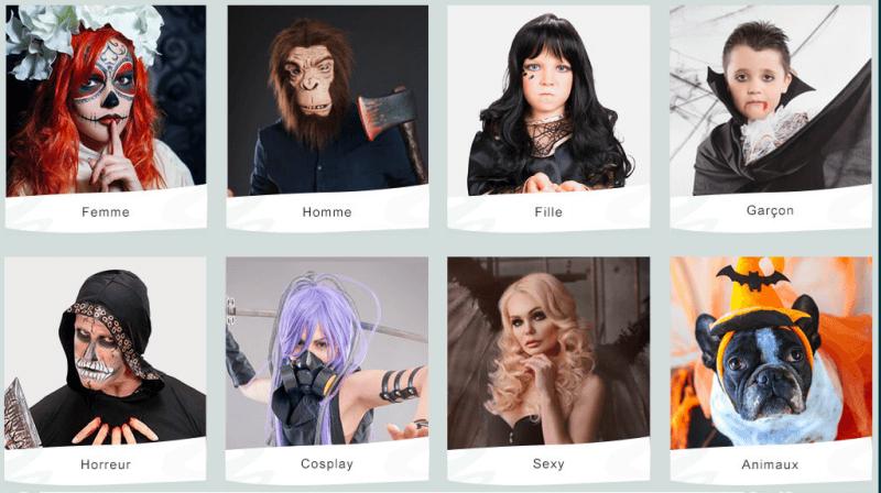 déguisement féter halloween par theme