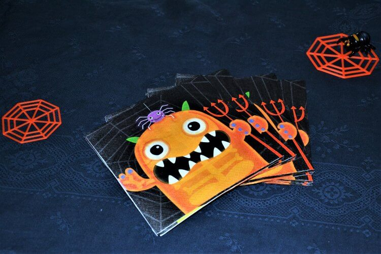 "Serviettes de table Halloween ""Momie"""