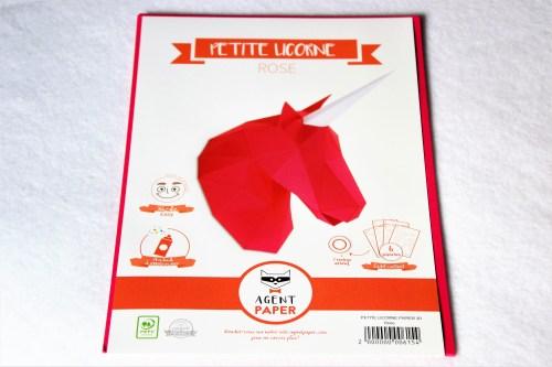 petite licorne rose en papier agent paper
