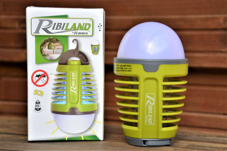 lampe lucia rechargeable anti moustique tigre ribiland