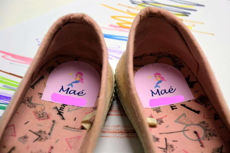 etiquettes personnalisees pour chaussures enfant