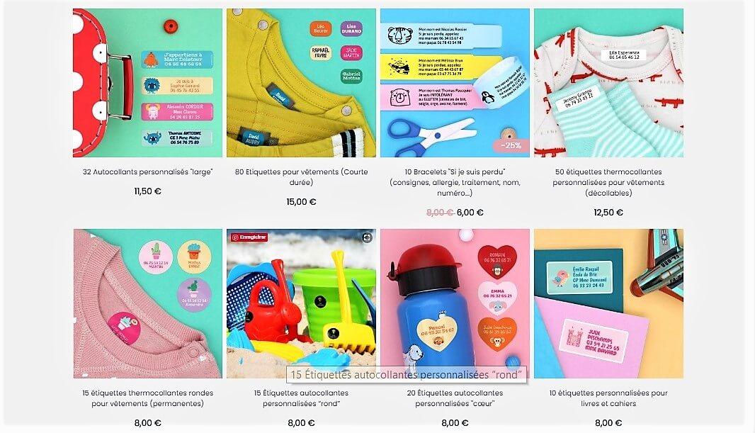 étiquettes personnalisées Stickerkid