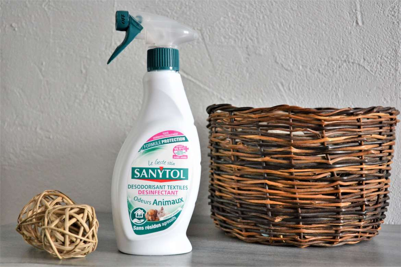 spray sanytol desodorisant textiles odeurs animaux