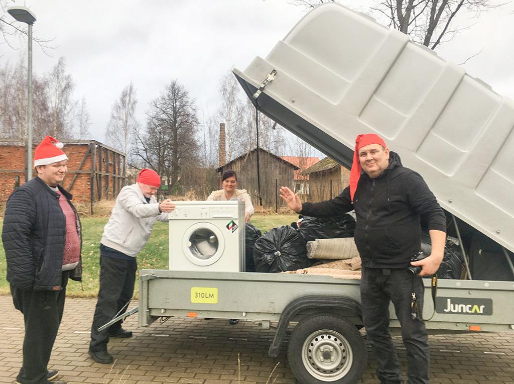 Lasva lasteaed sai kingitused Soomest