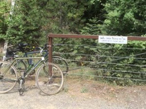 Two bikes at Small Creek Trestle