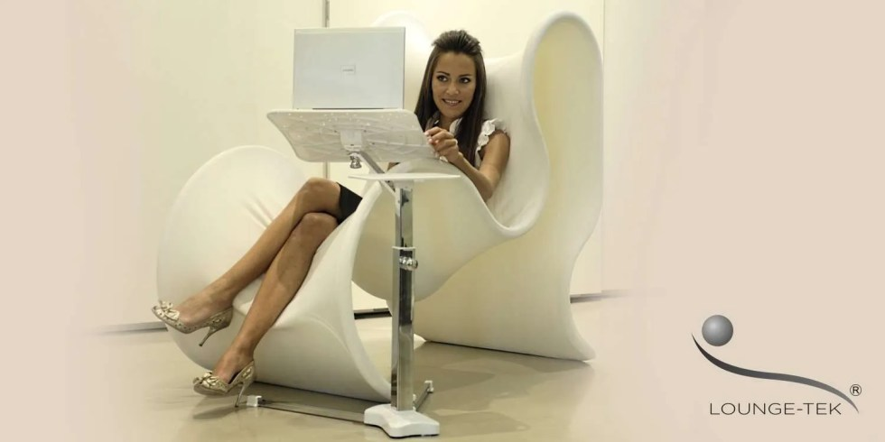 a laptop stand for chaise longue