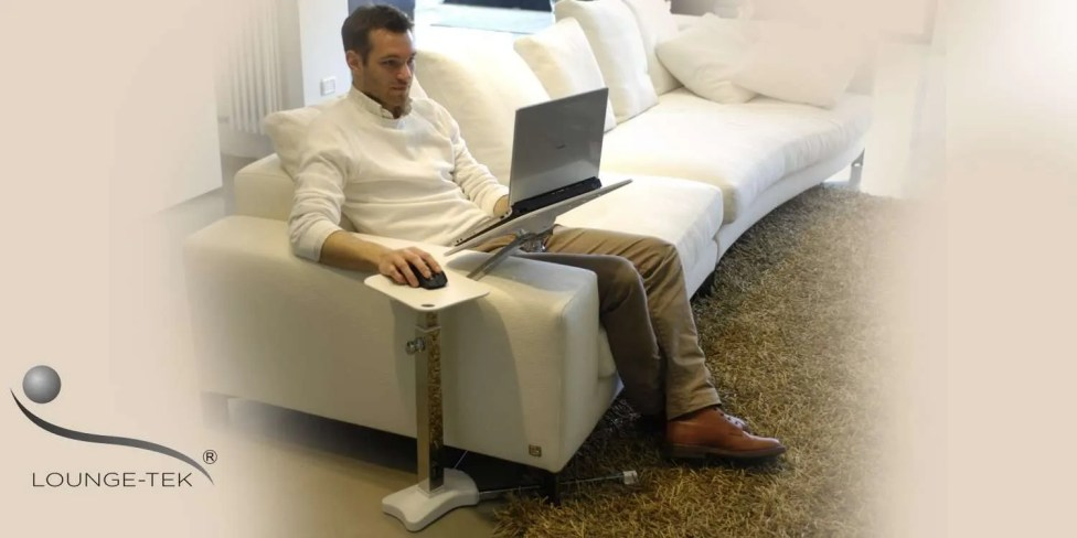 a laptop table for sofa couch to use laptos and tablet