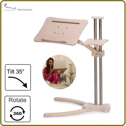 A fully adjustable ergonomic laptop table
