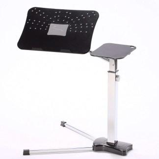 postazione ergonomica per lavorare e divertirsi con il Notebook a casa.