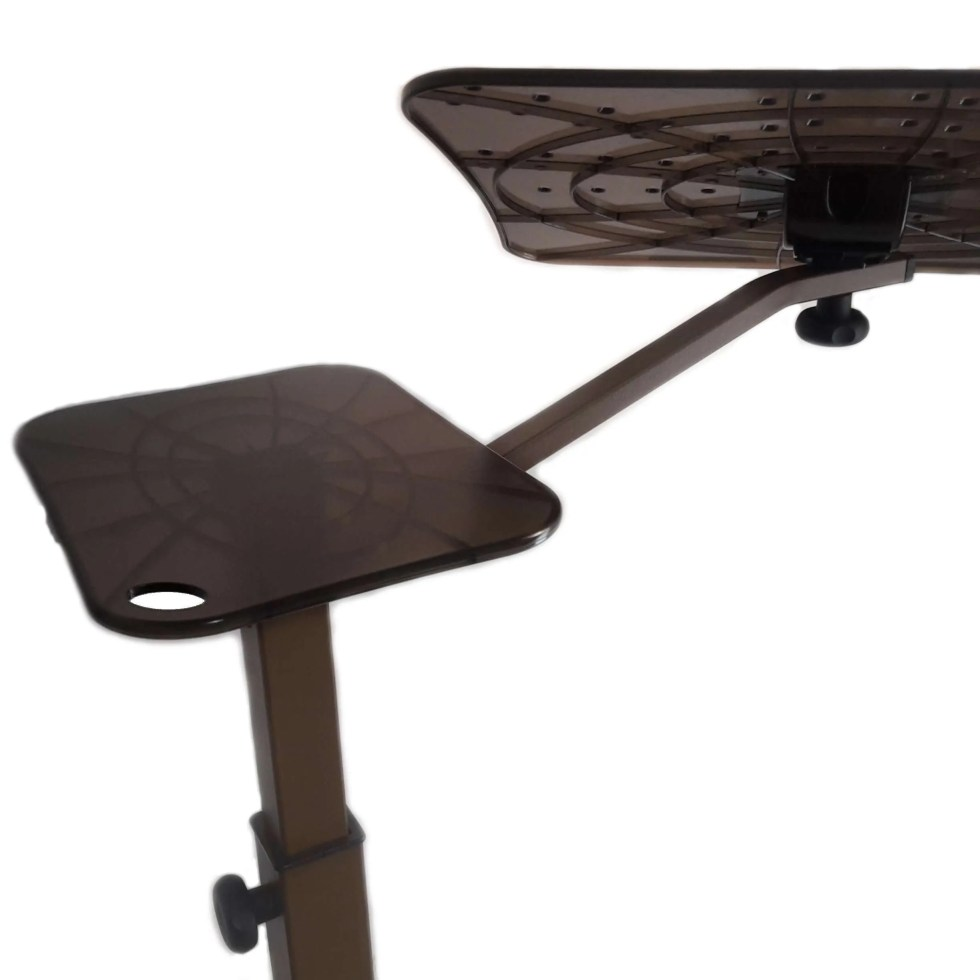 A fully adjustable laptop support that tilt and rotate to find the good position using laptop at home