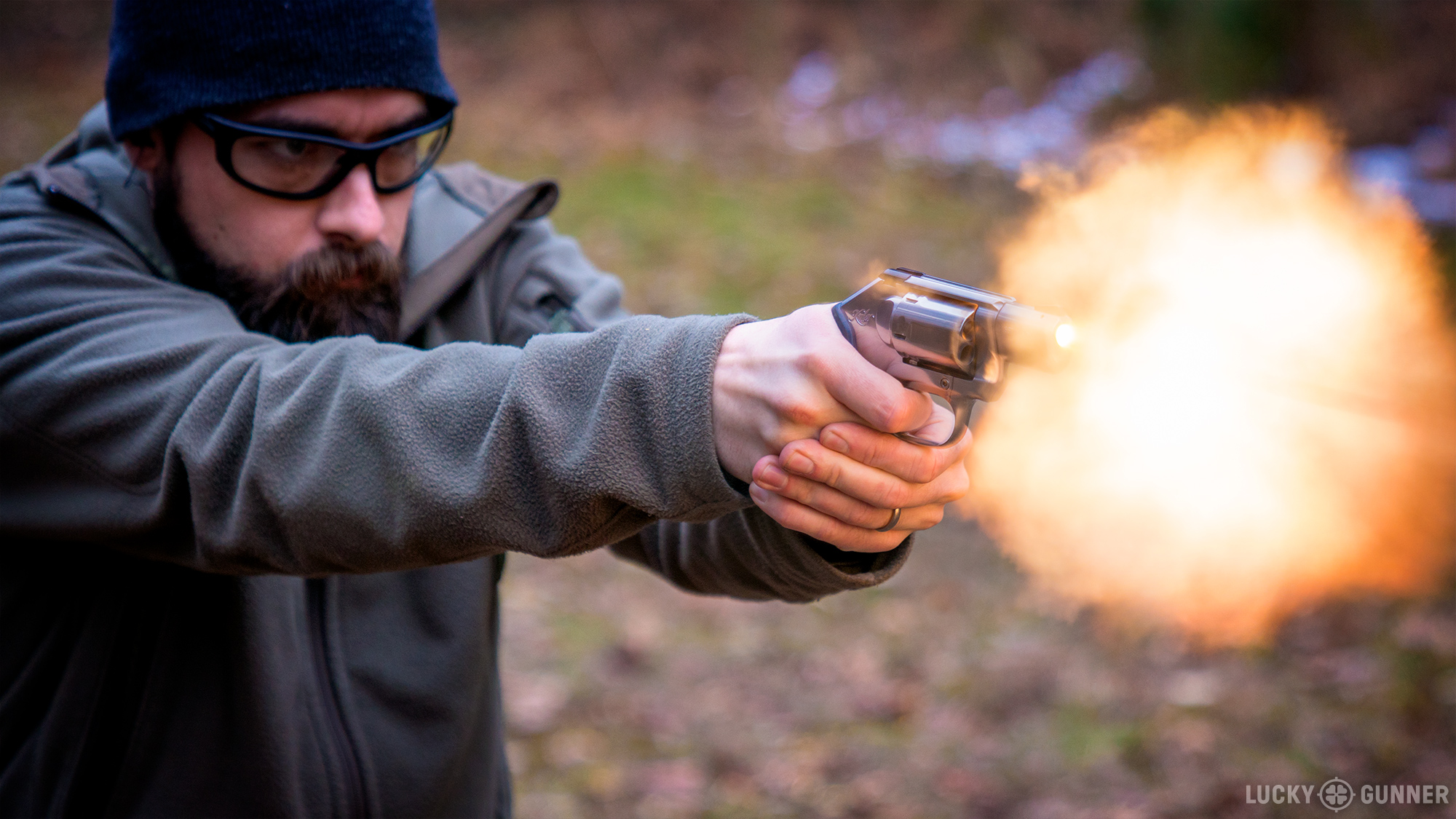 Kimber K6s muzzle flash