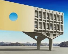 Architektura malowana pędzlem Hiszpana - wystawa wWarszawie Architektura malowana pędzlem Hiszpana - wystawa wWarszawie 1