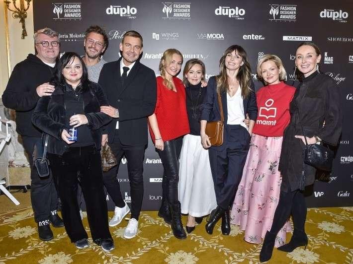 Spotkanie prasowe 10. edycji Fashion Designer Awards Agnieszka Dygant iDawid Woliński - selfie naspotkaniu 10. edycji Fashion Designer Awards! 1