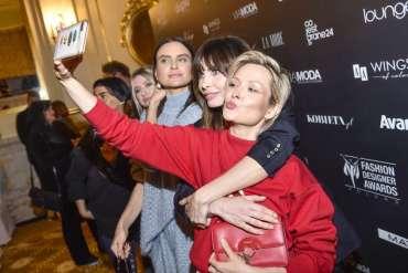 Agnieszka Dygant i Dawid Woliński - selfie na spotkaniu 10. edycji Fashion Designer Awards!