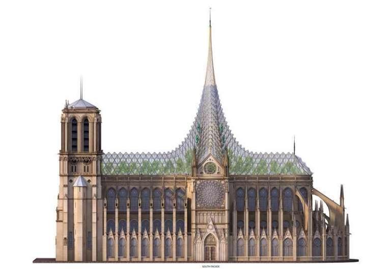 Najbardziej zaskakujące koncepcje odbudowy Notre Dame Najbardziej zaskakujące koncepcje odbudowy Notre Dame 4