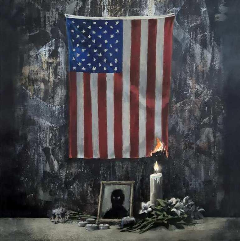 Banksy Banksy komentuje sytuację w USA nowym dziełem 1