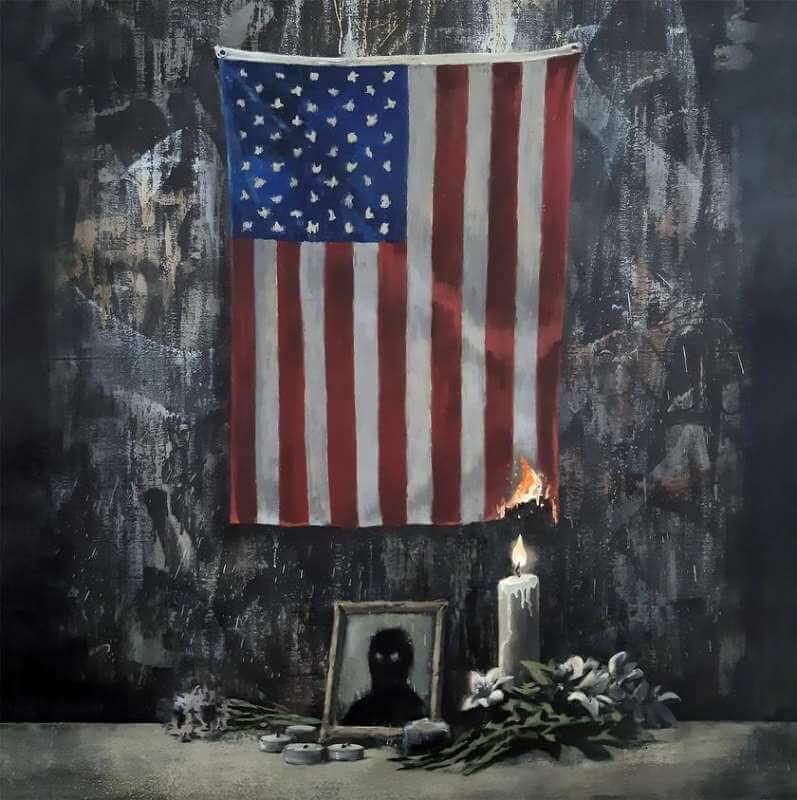 Banksy Banksy komentuje sytuację w USA nowym dziełem 25
