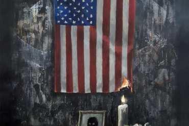 Banksy komentuje sytuację wUSA nowym dziełem