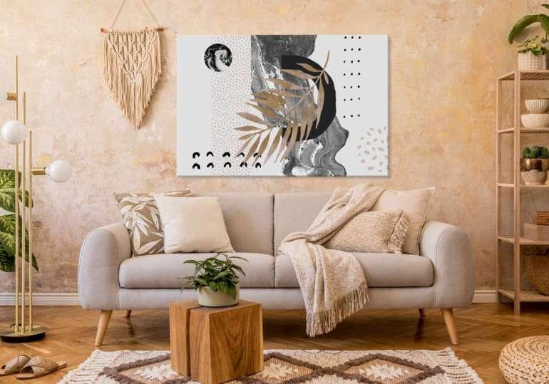 Abstrakcyjny obraz Abstrakcyjny obraz – odważ się nanowoczesną dekorację wnętrza 1
