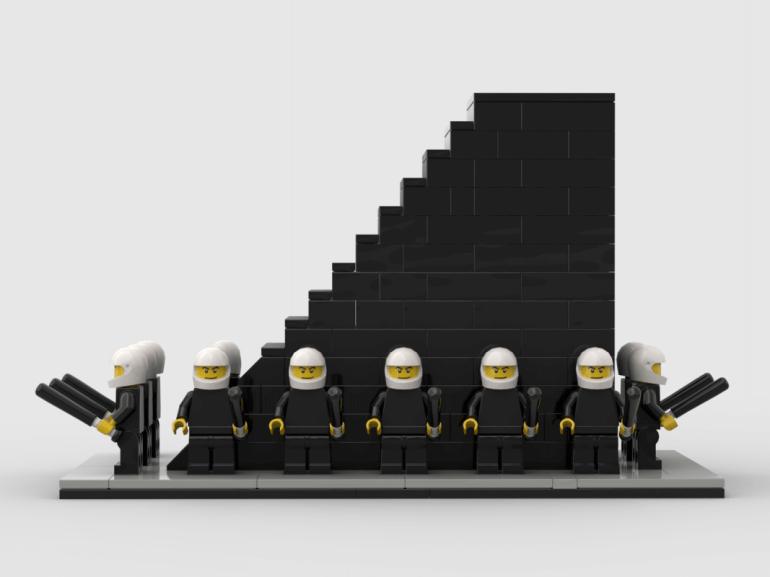 Artysta walczy przy pomocy klocków LEGO