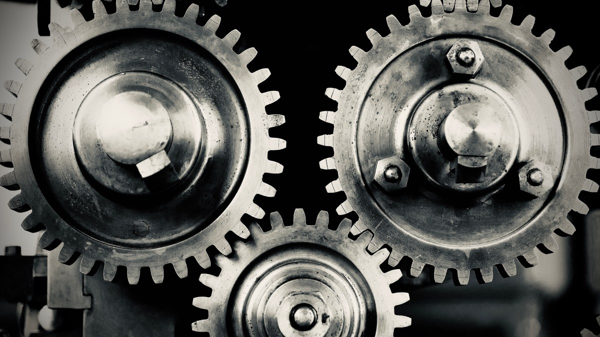 Gears and Cogs Turning