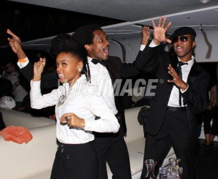 Janelle and band after party