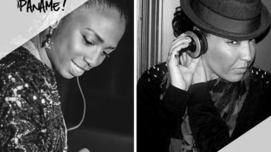 à gauche, DJ Sweet La Rock (MTL) / à droite Deejay Miss Di (Paname)