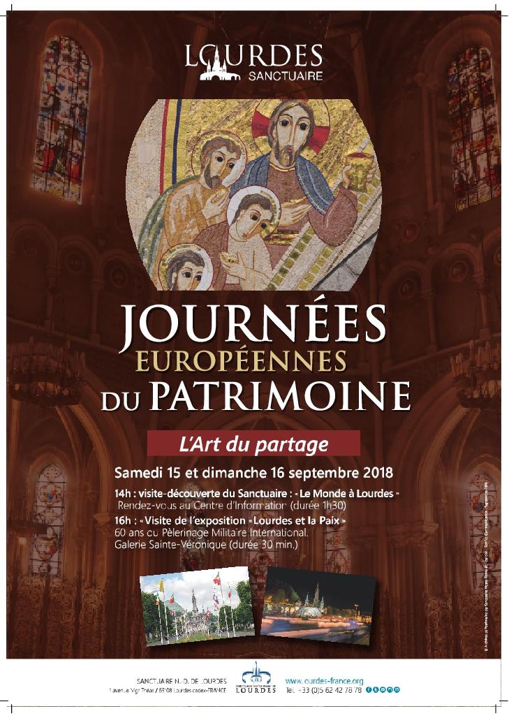 Programme des Journées du Patrimoine au Sanctuaire de Lourdes