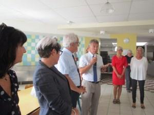 Lourdes: visite conjointe du collège de Sarsan par l'Inspecteur d'Académie, le Président du Département et le Maire de Lourdes