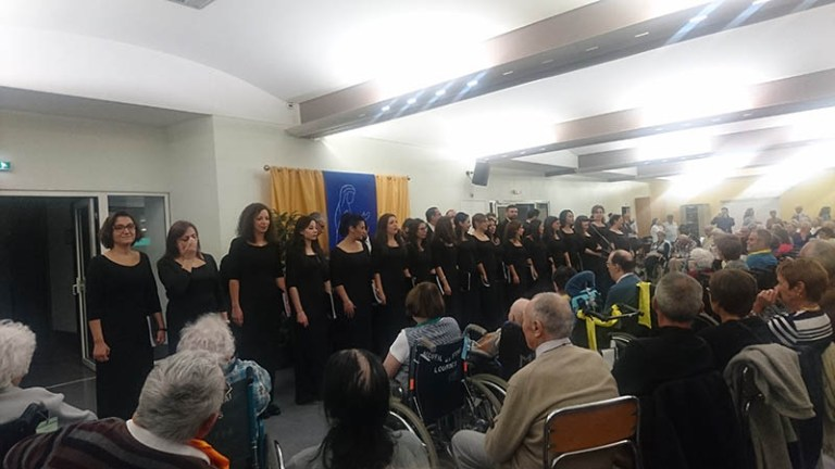 Lourdes : la Chorale d'Alep (Syrie) a enchanté l'Accueil Marie Saint-Fray