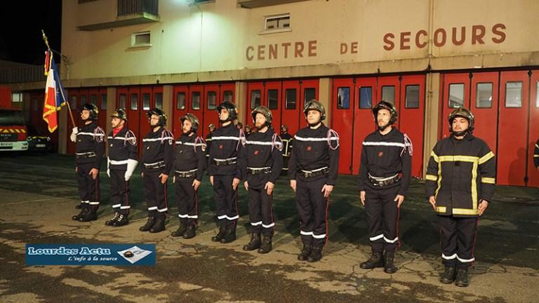 Lourdes : pour la Sainte Barbe, de nombreux Pompiers ont été mis à l'honneur