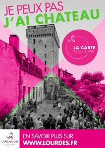Lourdes : Présentation de la carte d'abonnement annuel au château fort – Musée Pyrénéen