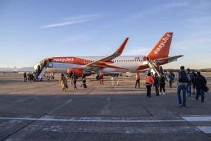 Aéroport Pau Pyrénées : accueil du 1er vol easyJet