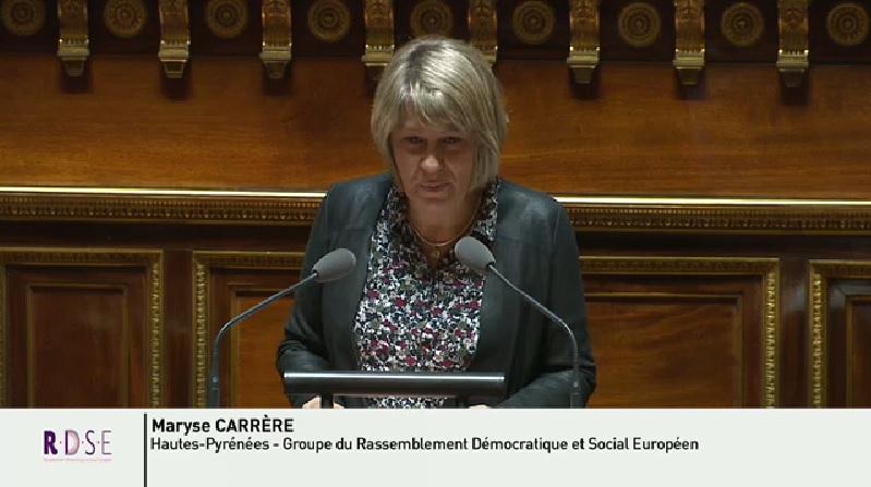 Communiqué de presse Maryse CARRERE Sénatrice des hautes-Pyrénées : proposition de loi visant à faciliter le désenclavement des territoires