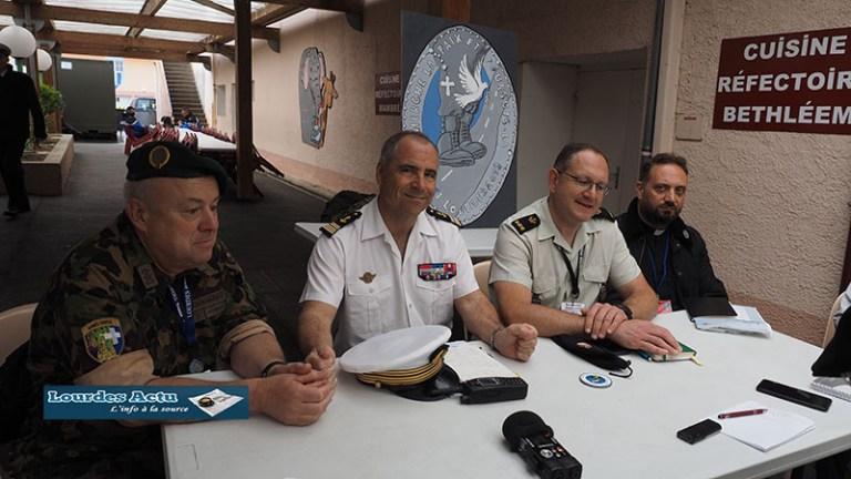 Lourdes : Conférence de presse pour l'ouverture du 61ème Pèlerinage militaire international