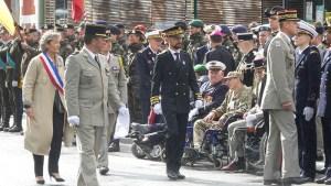 Lourdes : une belle cérémonie militaire devant la stèle du Général De Gaulle