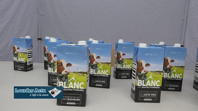 Lourdes : équitable et solidaire «Le lait Blanc» marque des éleveurs des Hautes-Pyrénées