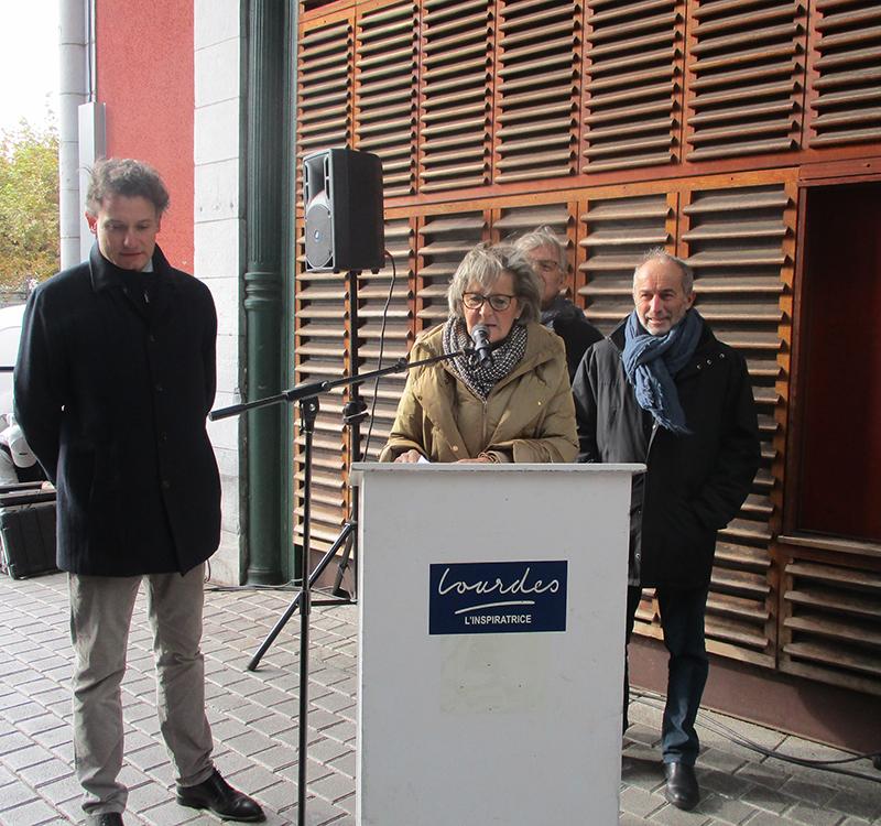Lourdes : Vernissage de l'expo et du Passage Jean Dupont