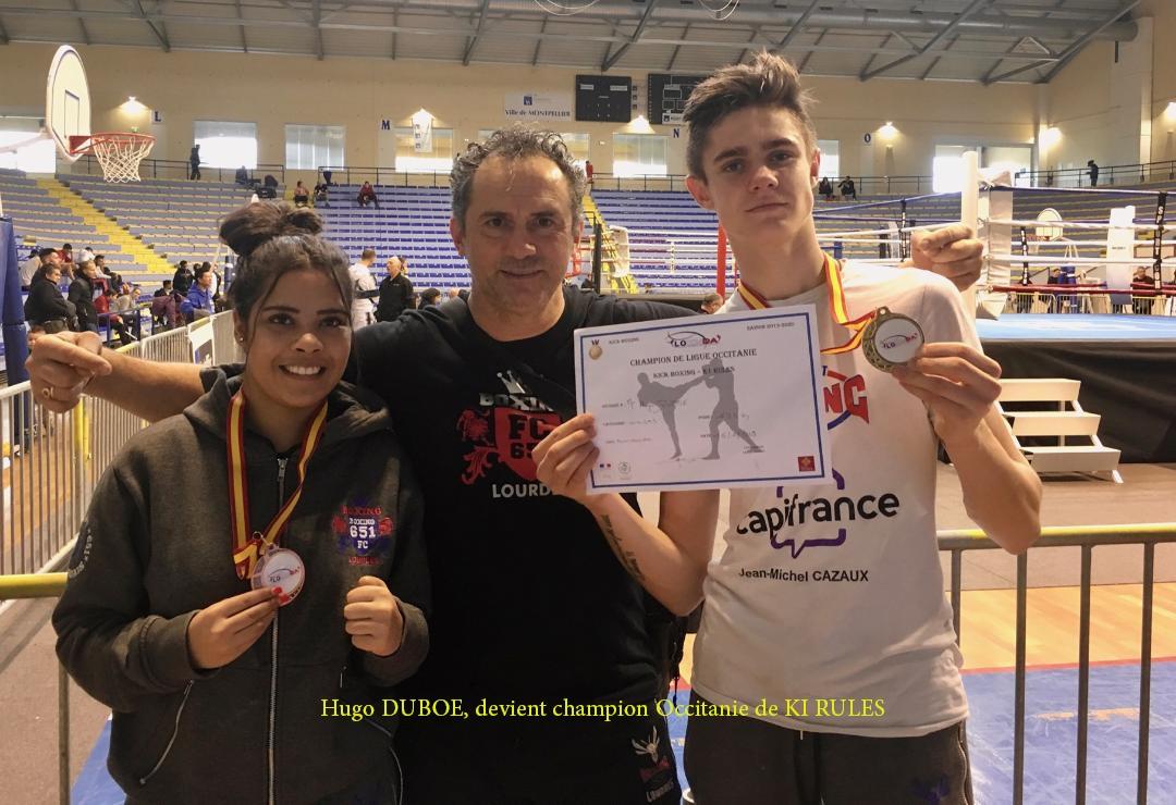 Lourdes : Hugo Duboé et Océane Joorum ramènent des Médailles du Championnat Occitanie de boxe