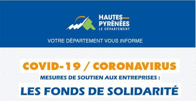Communiqué de Hautes-Pyrénées Tourisme Environnement : les Fonds de solidarité pour les pertes de chiffre d'affaires Mars et Avril