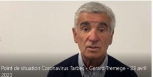 Tarbes : point vidéo de Gérard Trémège (reprise de l'école, mesures pour les personnes démunies et des masques)