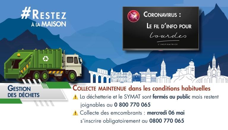 Lourdes : Communiqué de la Mairie à propos de la Collecte des encombrants