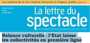 La Lettre du Spectacle : Relance culturelle, l'État laisse les Collectivités en première ligne