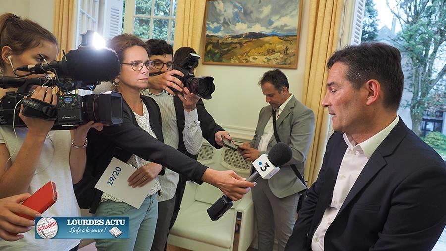 Lourdes : Conférence de presse de Thierry Lavit après son élection