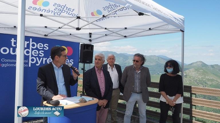 Lourdes : inauguration de la Piste bleue VTT au pic du Jer