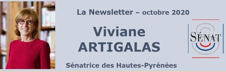 News Letters octobre 2020 de Viviane Artigalas, Sénatrice des Hautes- Pyrénées