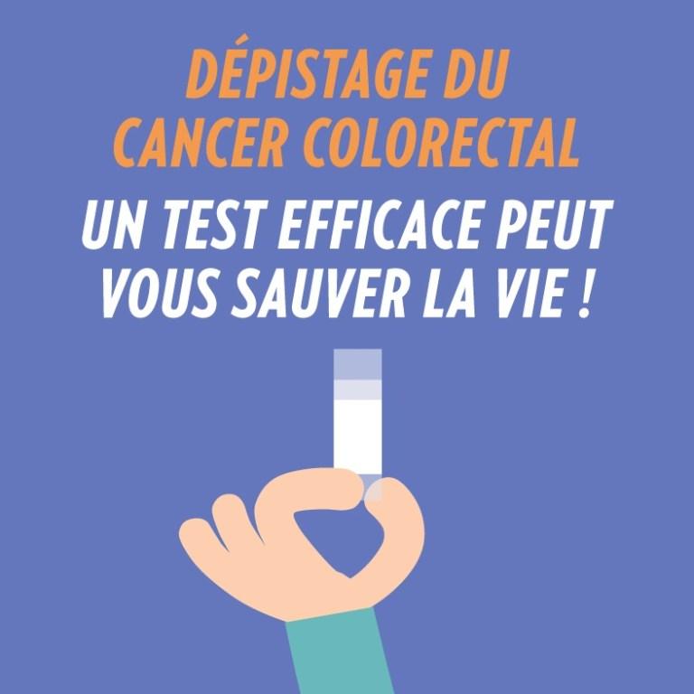 Campagne sur le dépistage du cancer colorectal pour Mars Bleu