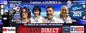 Read more about the article Emission «Le Grand Direct» : Elections départementales Canton de Lourdes 2 «Au-delà d'un canton, un territoire» avec Stéphane PEYRAS et Marie PLANE