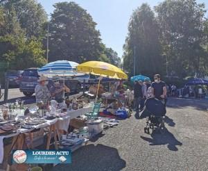 Lourdes : beau succès du Vide-greniers de l'association «Human iss»