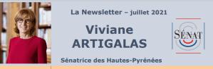 Read more about the article Lettre d'information de la Sénatrice Viviane ARTIGALAS pour le mois de juillet 2021